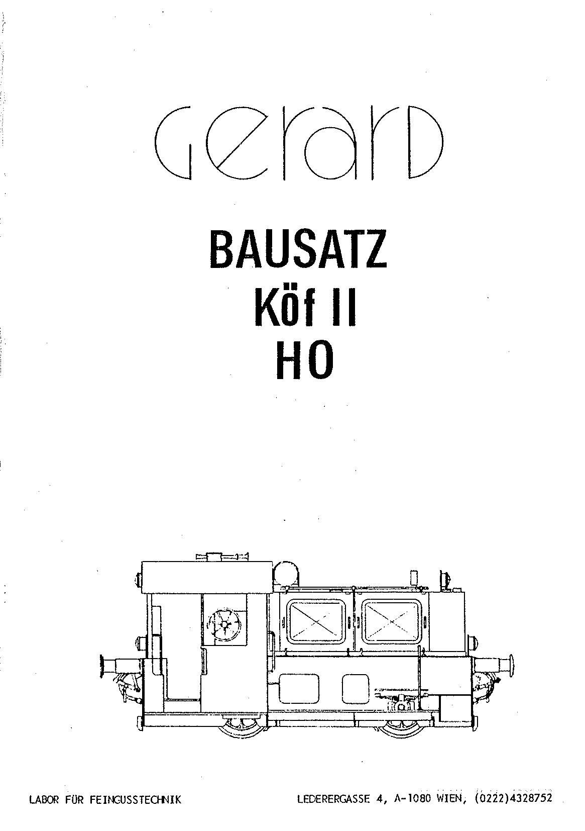 Bauanleitung Gerard Köf II 1/87 – Seite 1