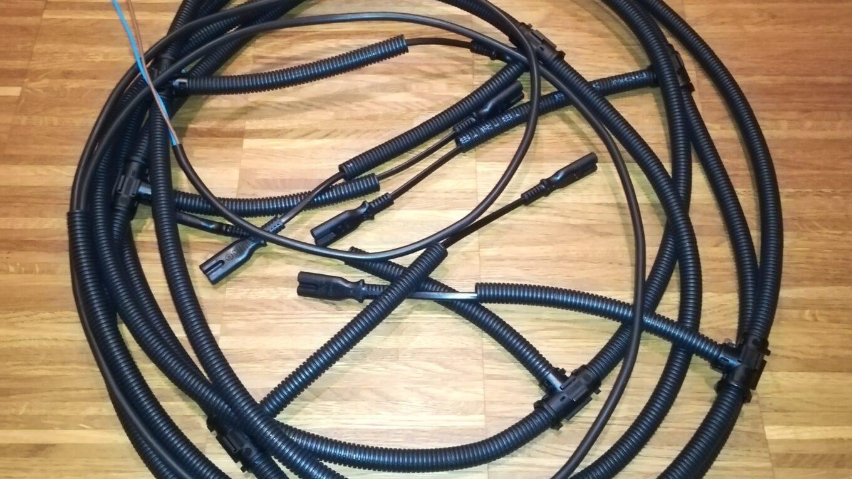 Kabelbaum für die LED-Spots vor der Montage