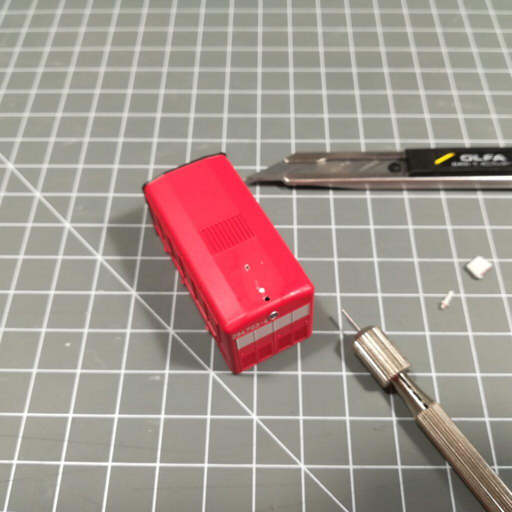 Die Antennen am Brawa-Modell werden entfernt