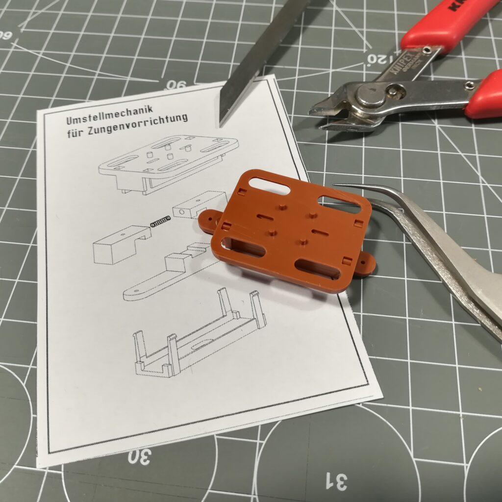 Umstellmechanik für Zungenvorrichtung: Fertig montiert zum Einbau