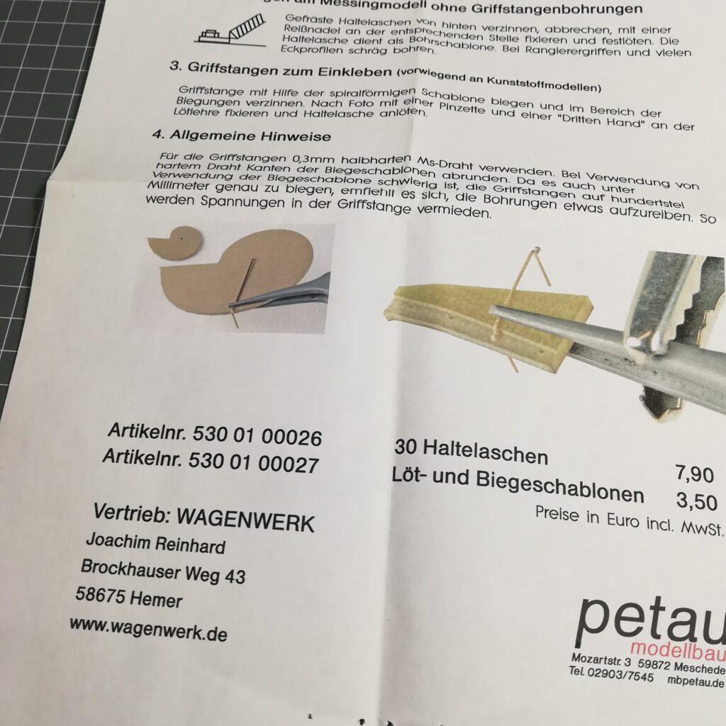 Biegewerkzeug für Griffstangen ø 0,3 mm von Petau